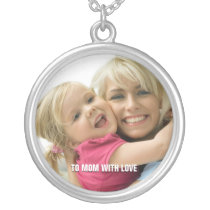 Love Mom Photo Necklace