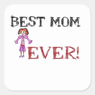 Love mom square sticker