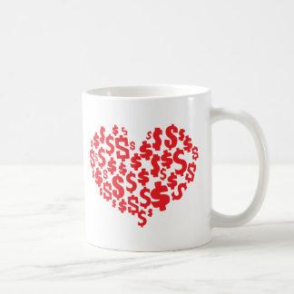 LOVE MONEY COFFEE MUG