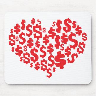 LOVE MONEY MOUSE PAD