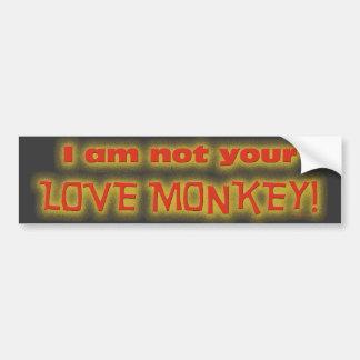LOVE MONKEY BUMPER STICKER