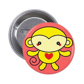 Love Monkey Pinback Buttons