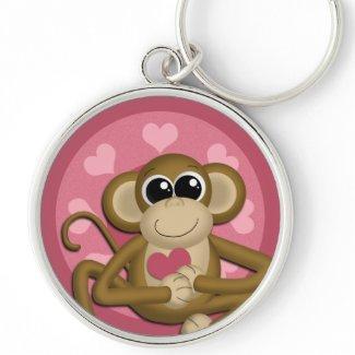 Love Monkey : Premium Keychain keychain