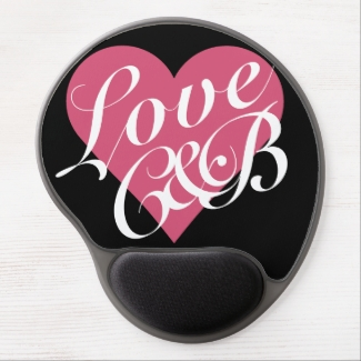 Love Monograms Pink Heart Valentine's Day