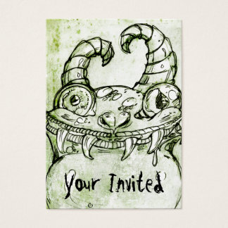 Love Monster Sketch Business Card