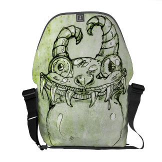 Love Monster Sketch Messenger Bag