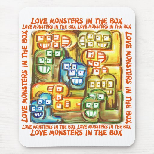 Love Monsters In The Box Mouse Pads