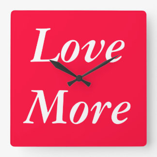 Love More Clock - A Lovely Timepiece