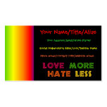 Love More Hate Less Double-Sided Standard Business Cards (Pack Of 100)