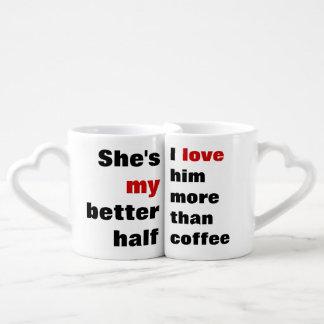 love more than coffee coffee mug set