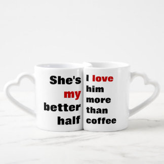 love more than coffee lovers mug sets