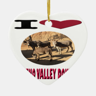 Love Moreno Valley Donkeys Ceramic Ornament