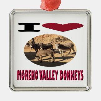 Love Moreno Valley Donkeys Metal Ornament