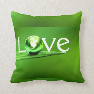 Love mother earth by healing love throw pillow