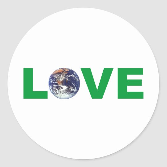Love Mother Earth Classic Round Sticker