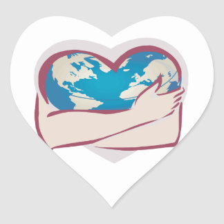Love Mother Earth Heart Sticker