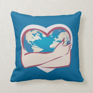 Love Mother Earth Throw Pillow
