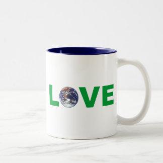 Love Mother Earth Two-Tone Coffee Mug