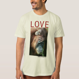 Love - Mother orangutan with baby T Shirt