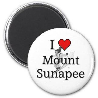 Love Mount Sunapee 2 Inch Round Magnet