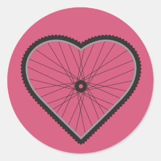 Love Mountain Biking Classic Round Sticker