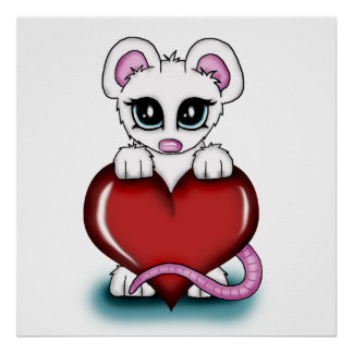 Love Mouse Poster