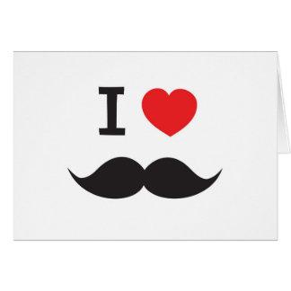 Love Moustache Cards