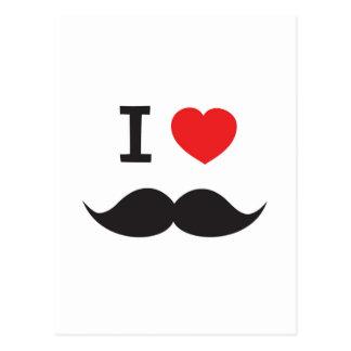 Love Moustache Postcard