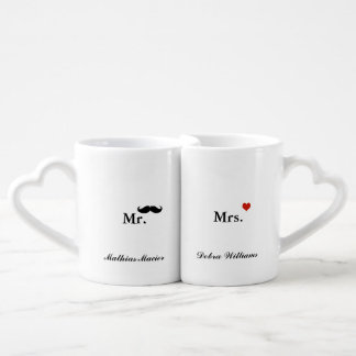 love mr mrs personalized name couples coffee mug