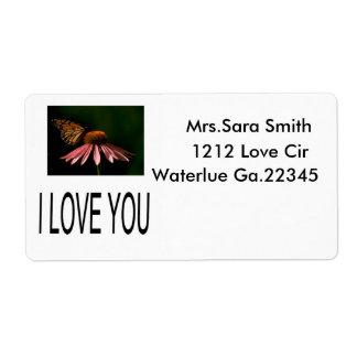 LOVE, Mrs.Sara Smith, 1212 Love Cir, Waterlue G... Label