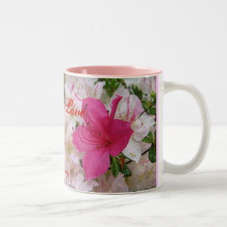 Love mug with beautiful flower