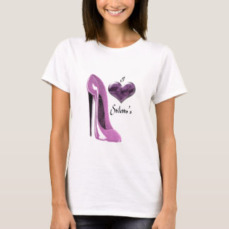 Love Mulberry Pink Stiletto Shoe and 3D Heart T-Shirt