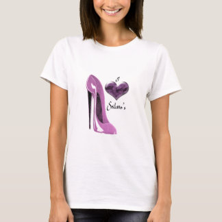 Love Mulberry Pink Stiletto Shoe and Heart T-Shirt