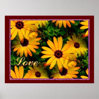 Love Multi Floral Poster