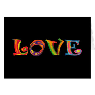 Love Multicolour Greeting card
