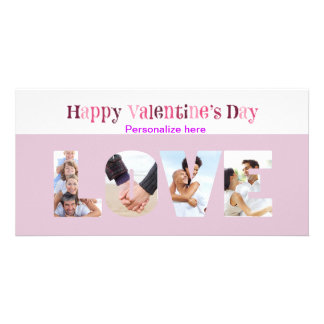 LOVE Multiple Photo Valentine's  Anniversary Card