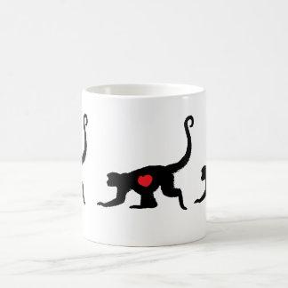 Love Munkey Heart Tattoo design Classic White Coffee Mug