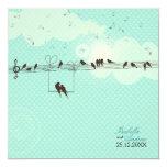 """Love Music 5.25"""" Square Invitation Card"""
