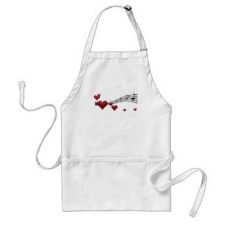 Love music adult apron