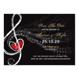 Love & Music Artist Photo Save The Date Announceme Custom Announcements