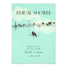 Love Music bridal shower 4.5x6.25 Paper Invitation Card