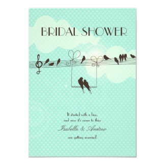 Love Music bridal shower Personalized Announcement