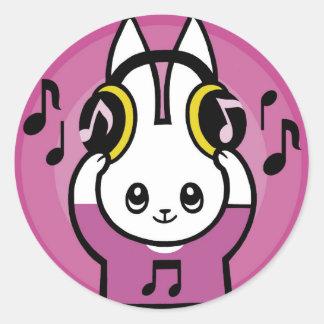 LOVE MUSIC CLASSIC ROUND STICKER