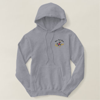 Love Music Embroidered Hoodie