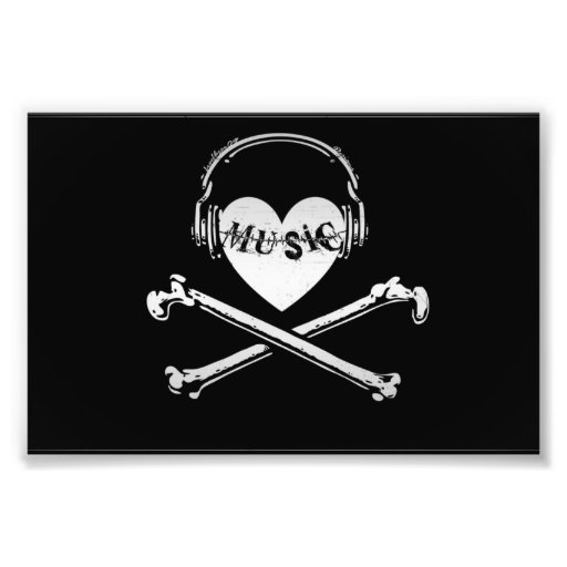love_music_headphones_skull_and_crossbones_photoenlargement ...