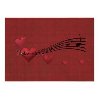Love music 5x7 paper invitation card