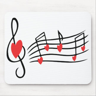 Love Music Mouse Pads