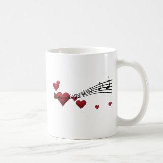 Love music classic white coffee mug
