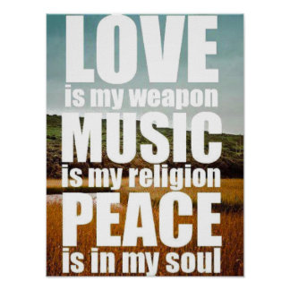 Love Music Peace Poster