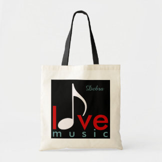 love music personalized-name tote bag